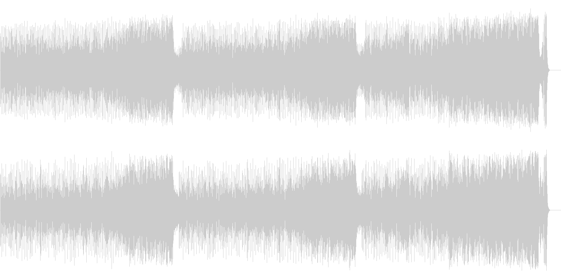 和やかなポップ BGM(フルサイズ)の未再生の波形