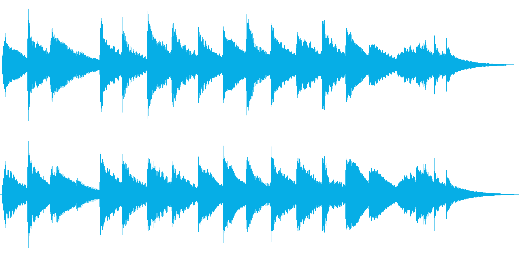 優しさ、よかったね、ピアノとキラキラでの再生済みの波形