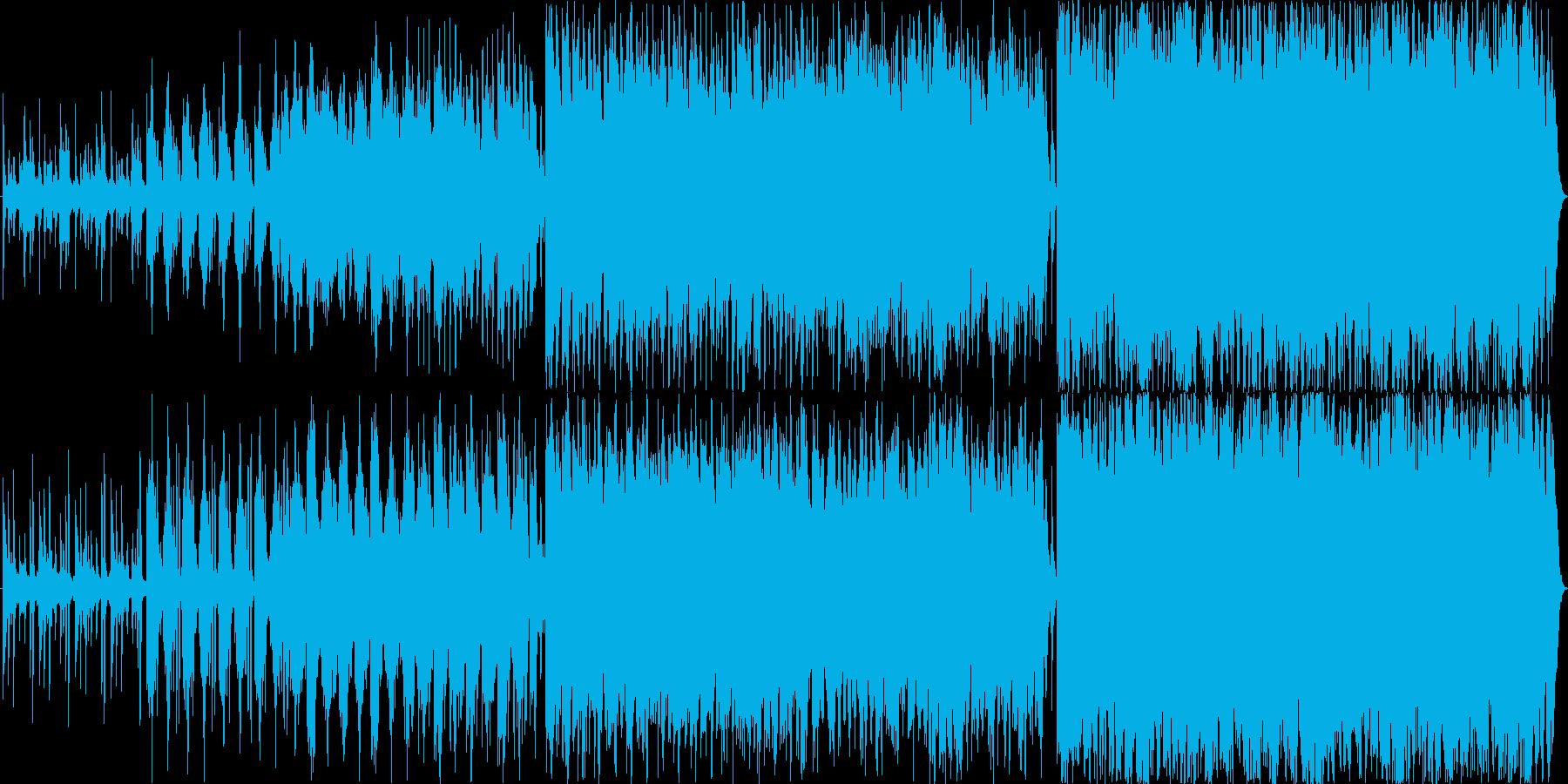 不気味で怪しい雰囲気のワルツ風の再生済みの波形