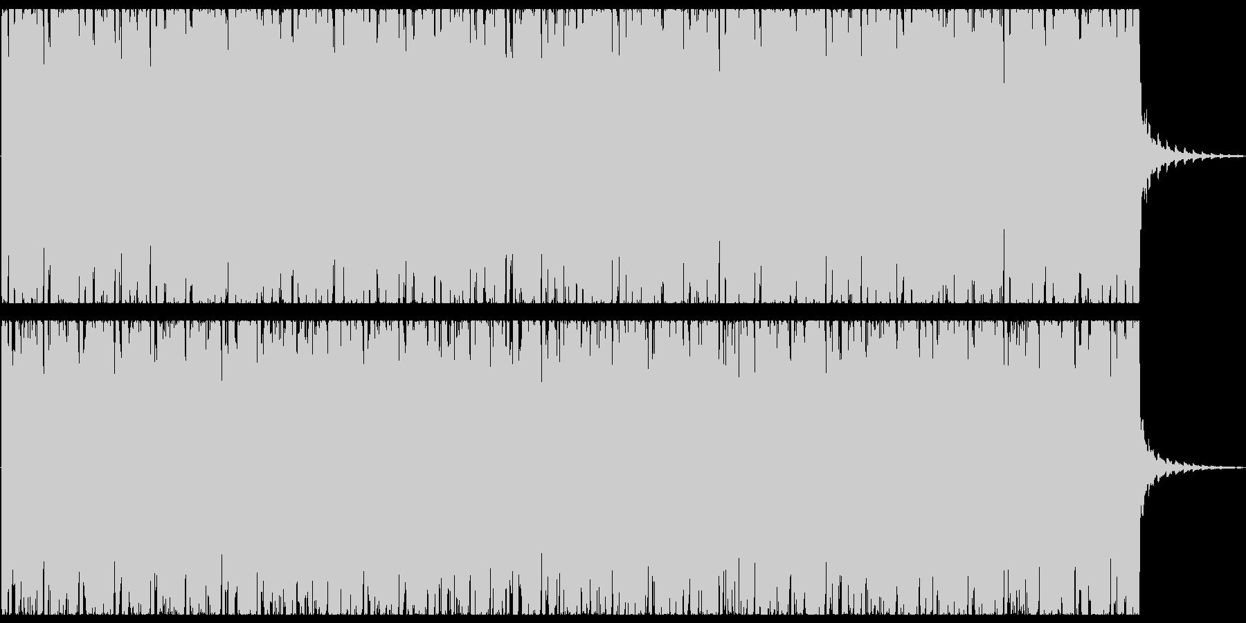 オシャレな4つ打ちピアノハウス-ショートの未再生の波形