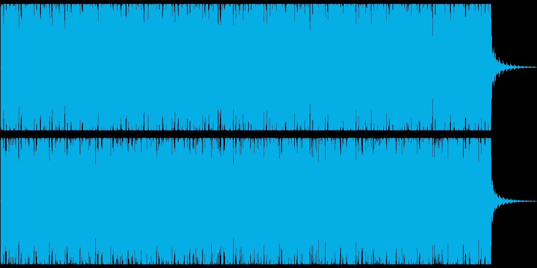 オシャレな4つ打ちピアノハウス-ショートの再生済みの波形