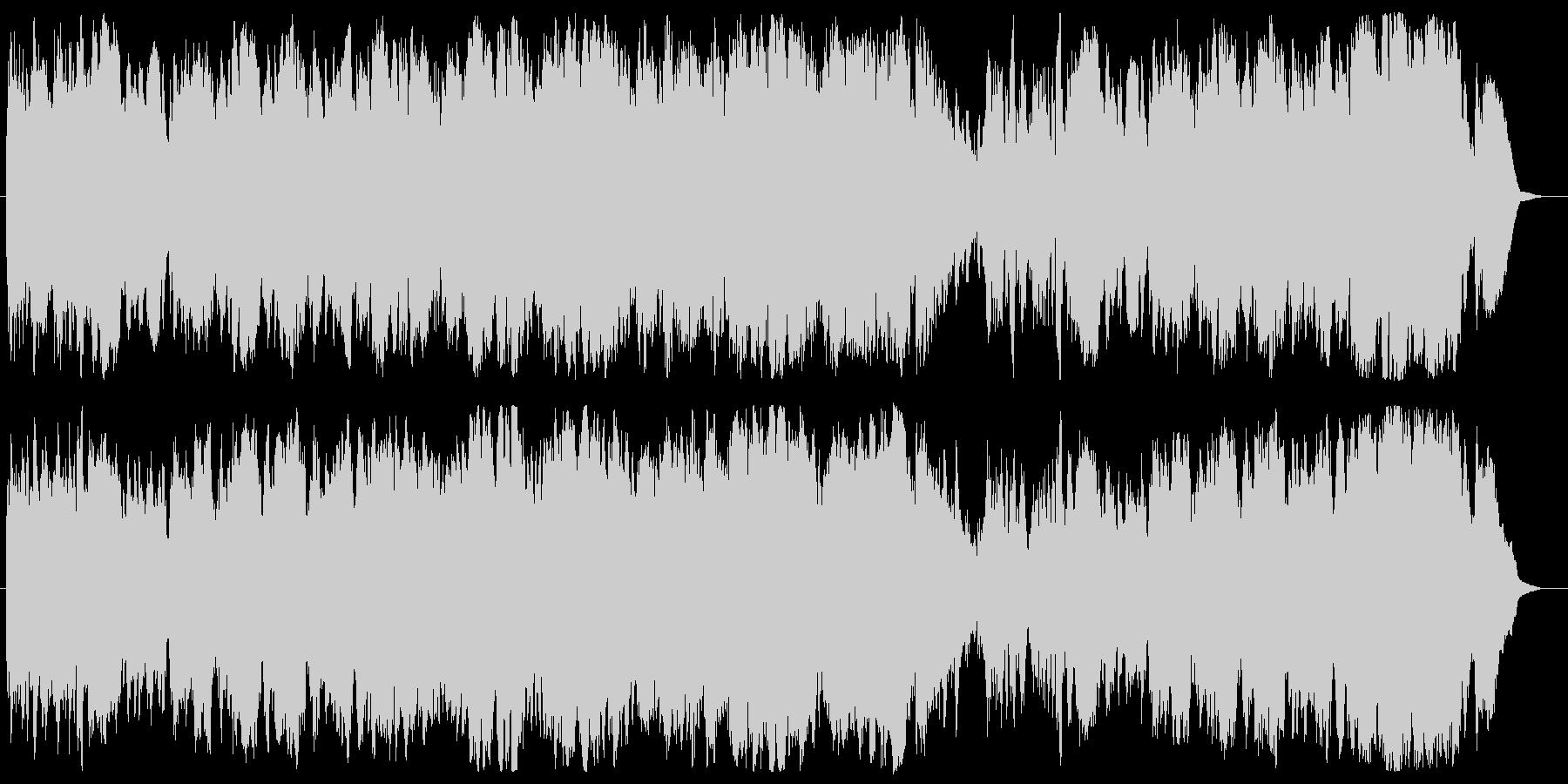 明るく軽快クラリネット・フルート・チェロの未再生の波形