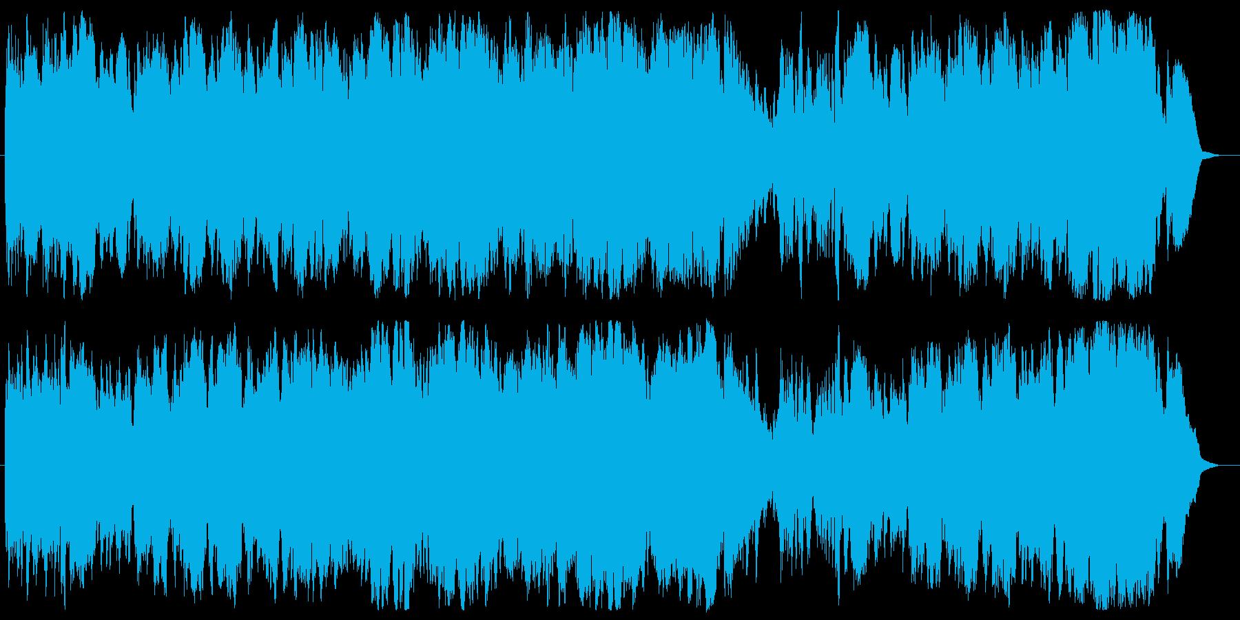 明るく軽快クラリネット・フルート・チェロの再生済みの波形