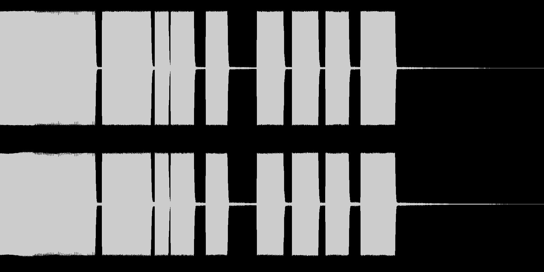 Beep1アラーム、着信音の未再生の波形
