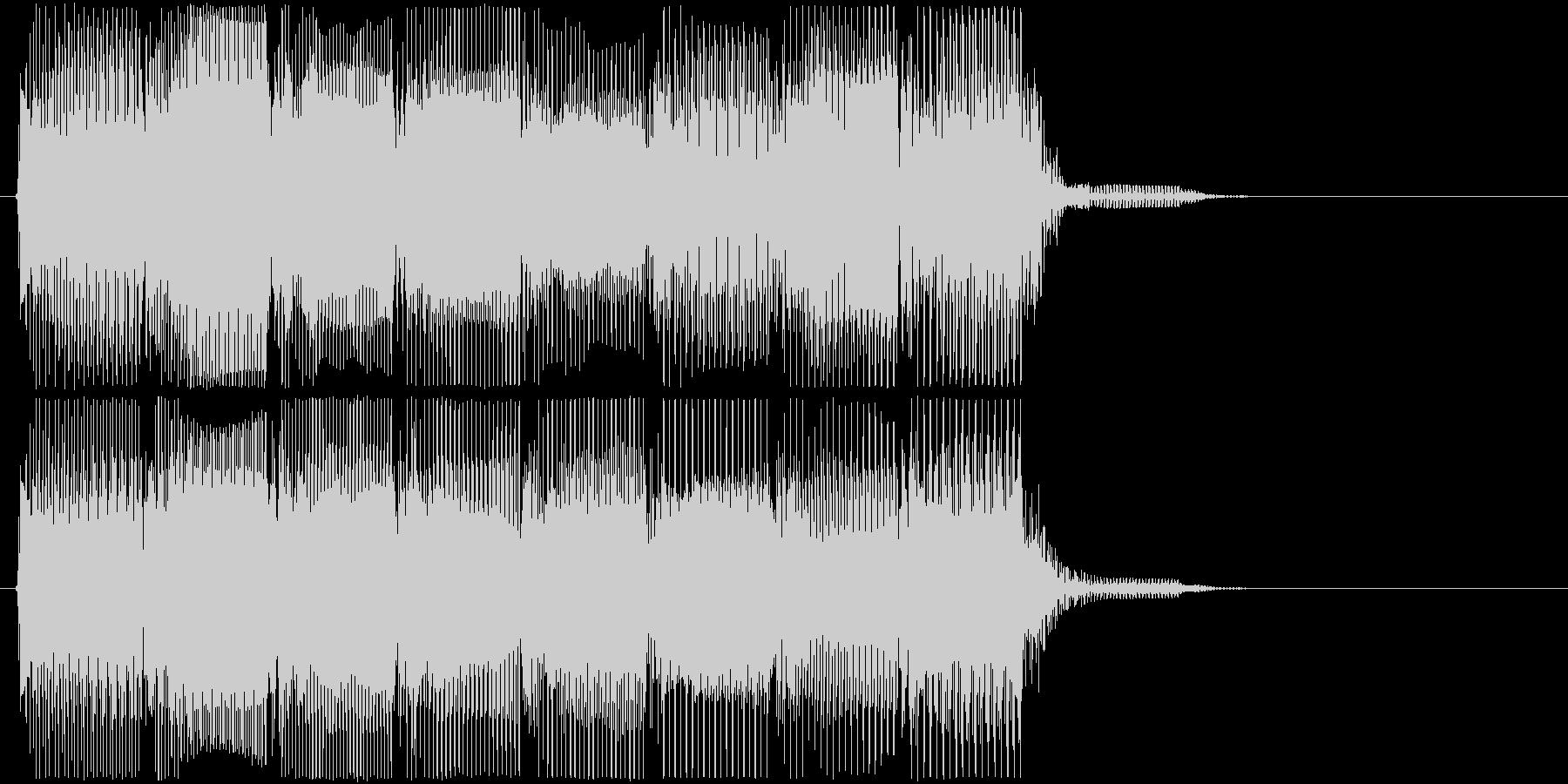 高低音版 レトロなゲームオーバーBGMの未再生の波形