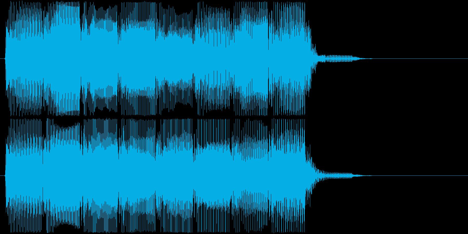高低音版 レトロなゲームオーバーBGMの再生済みの波形
