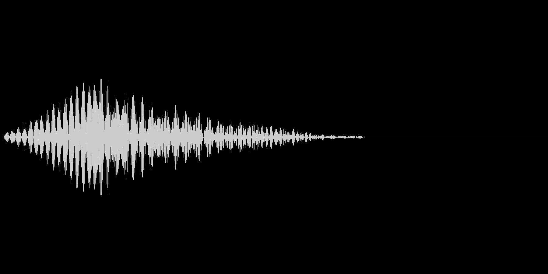 アプリのタッチ音です。の未再生の波形