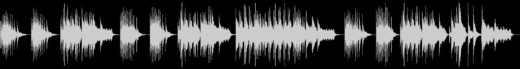 ピアノで奏でるヒーリングミュージックの未再生の波形