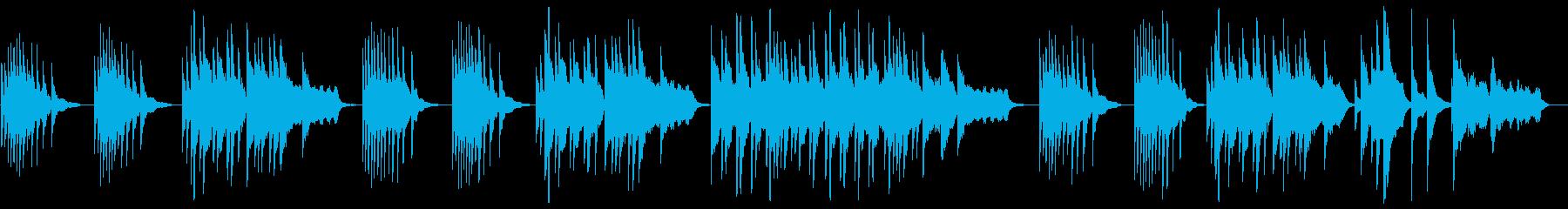 ピアノで奏でるヒーリングミュージックの再生済みの波形