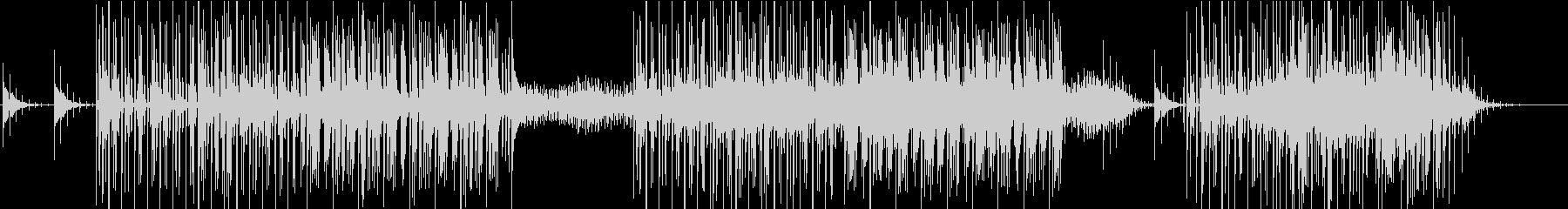 リズミックなエレクトロニカの未再生の波形