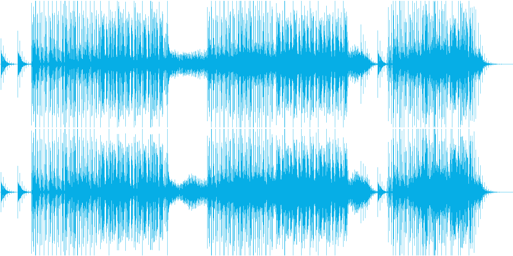 リズミックなエレクトロニカの再生済みの波形