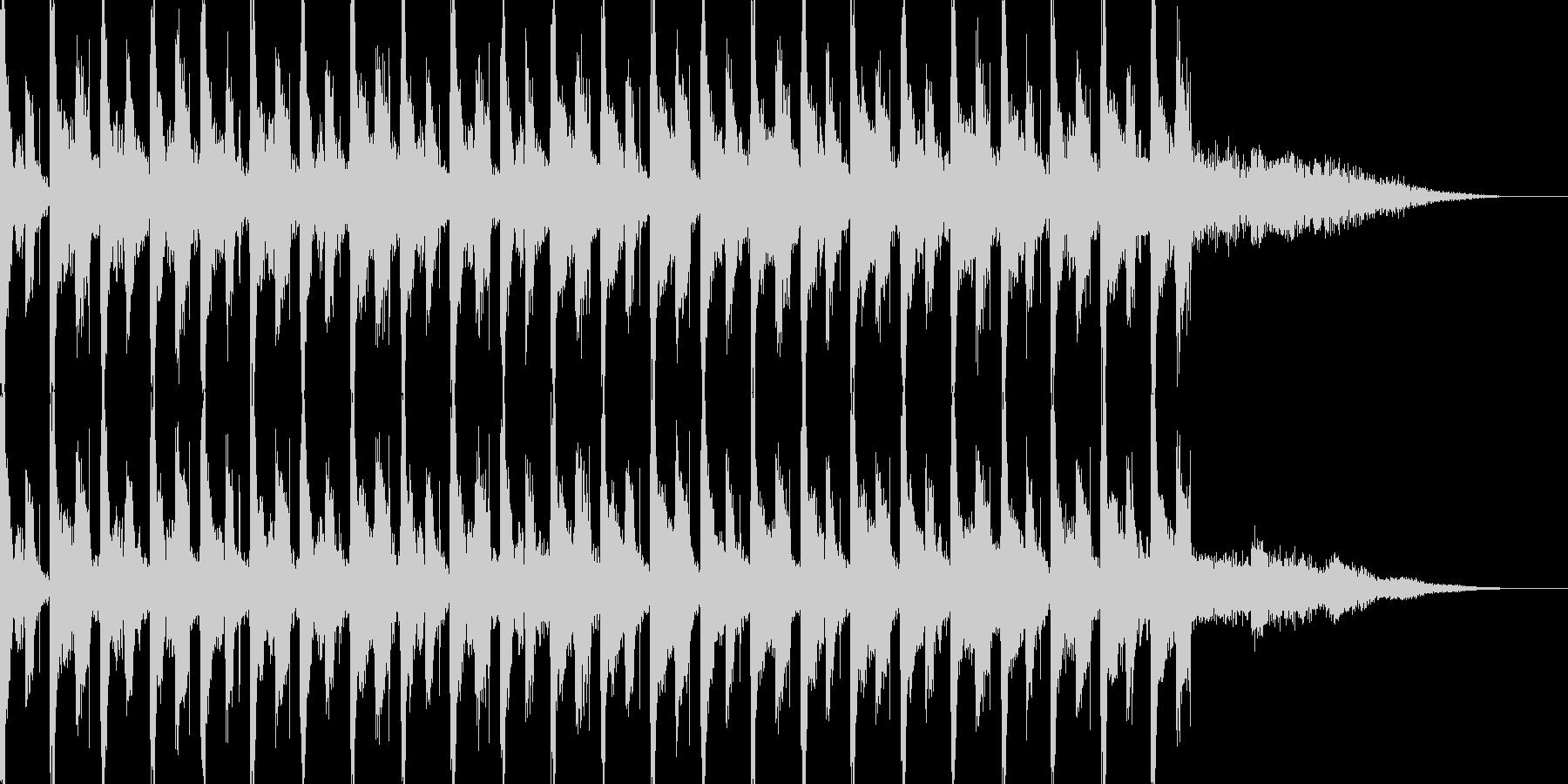 ほのぼのとしたテクノポップスの未再生の波形