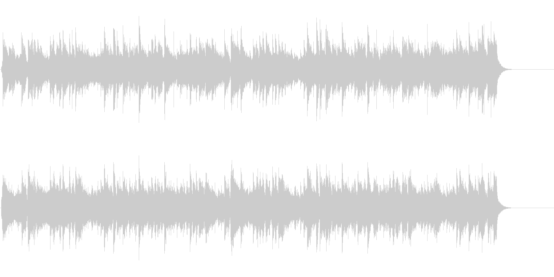 ギター・ポップ・バラード(ラブソング風)の未再生の波形