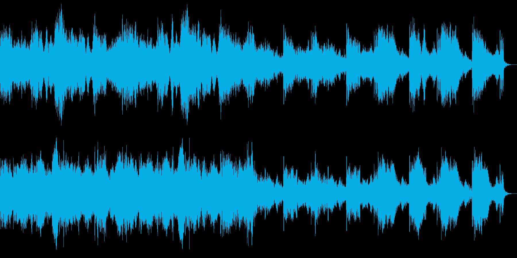 ホラーな暗く重い雰囲気のストリングスの再生済みの波形