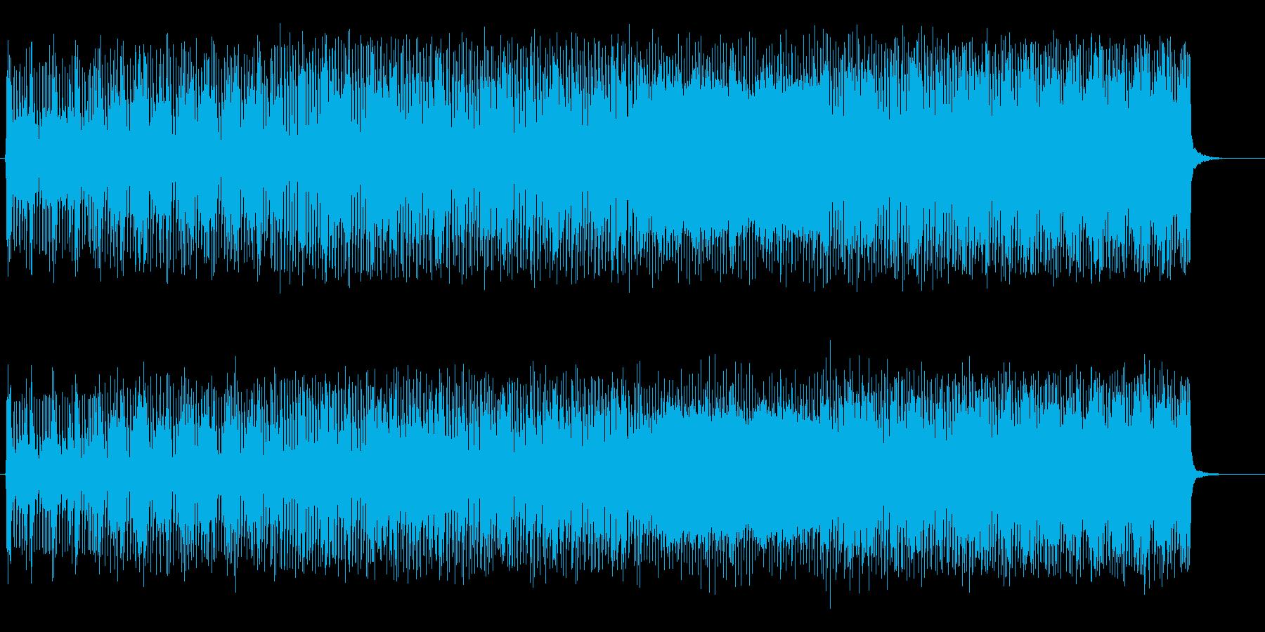 パワフルで重量感があるファンク/ロックの再生済みの波形