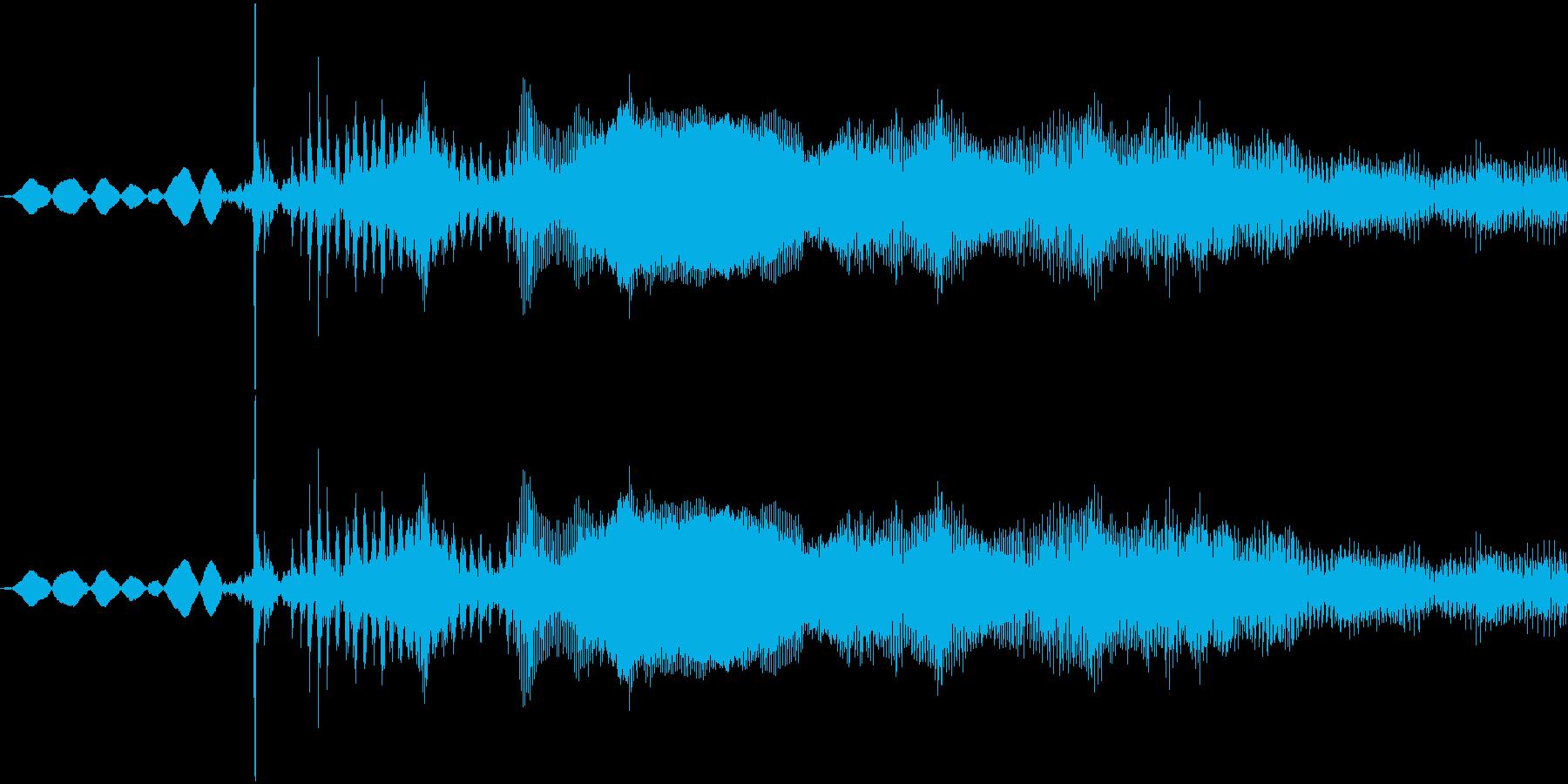 シカの鳴き声です。の再生済みの波形