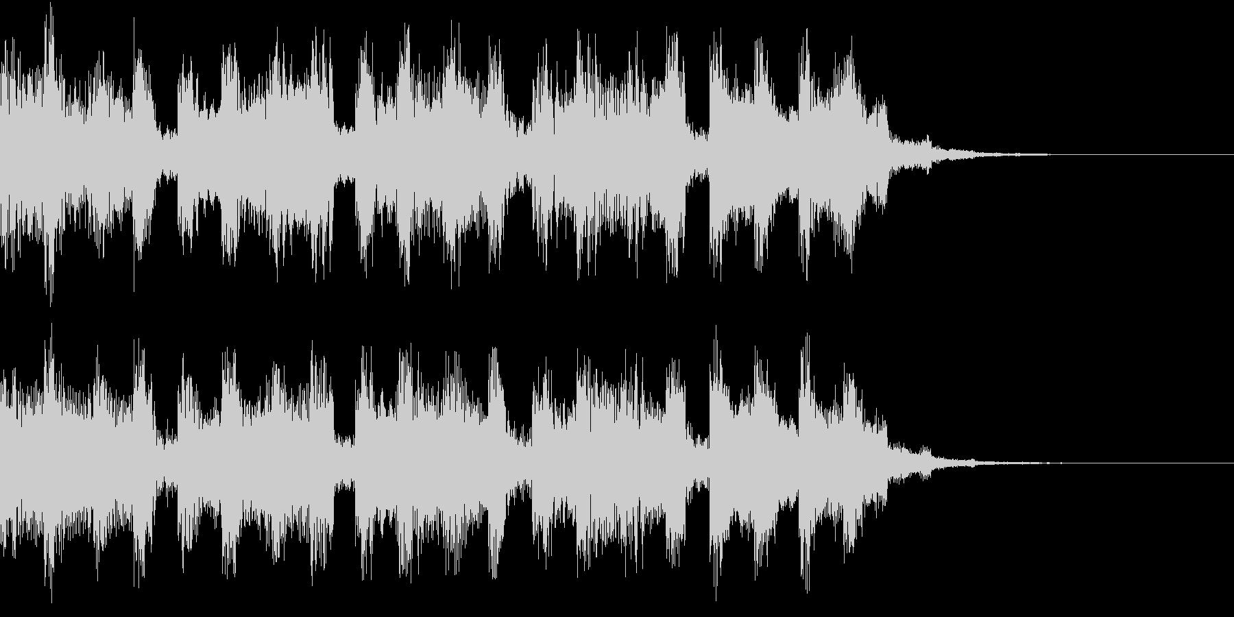 疾走感があるシンセ音のシンセ曲の未再生の波形
