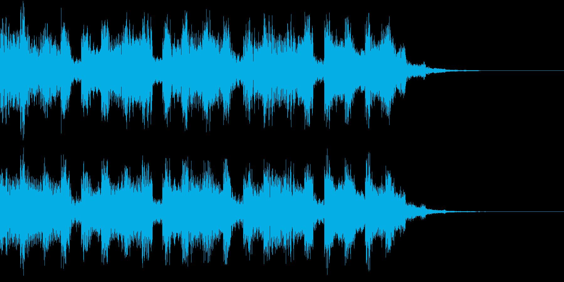 疾走感があるシンセ音のシンセ曲の再生済みの波形