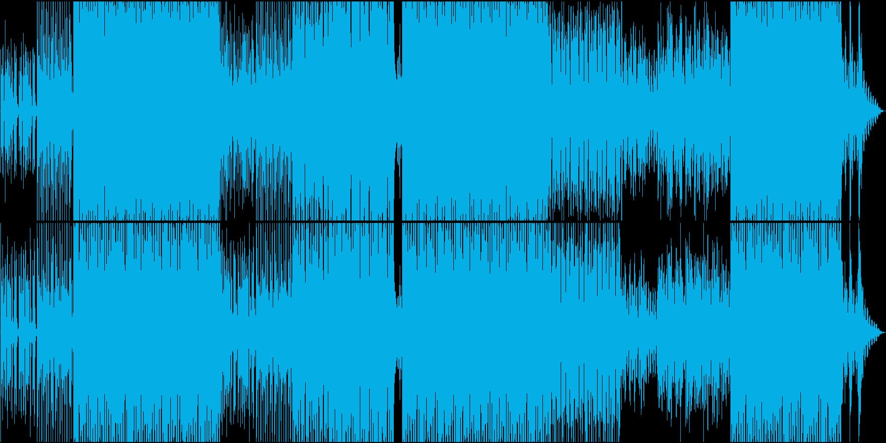 ちょっと早めの軽快なボサノバの再生済みの波形