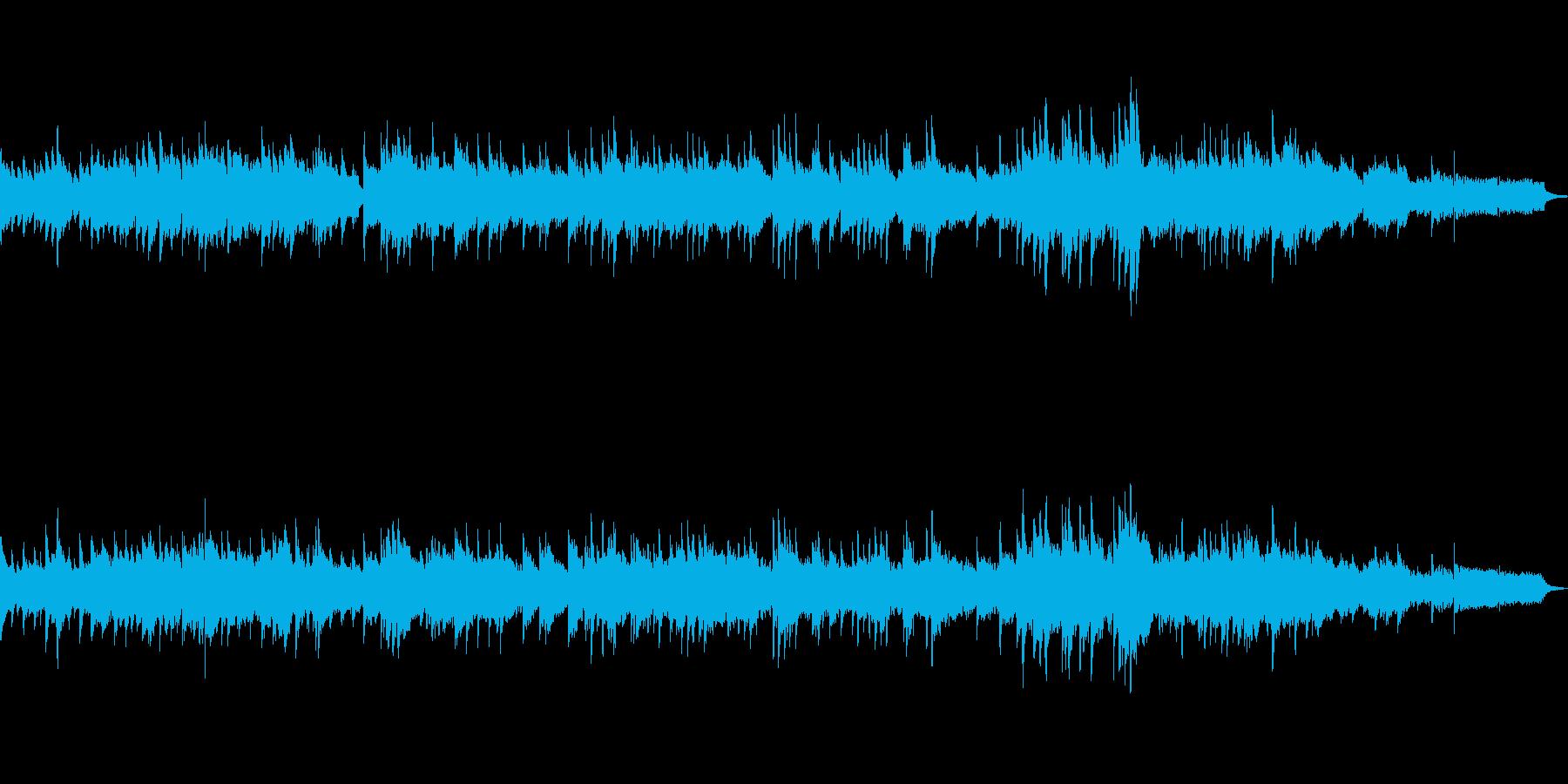 ピアノと弦楽器の優しいメロディーの再生済みの波形