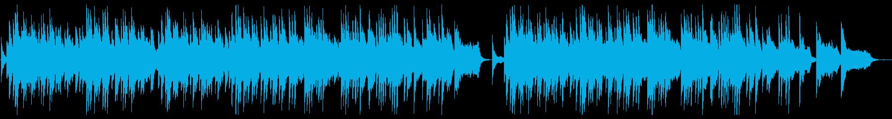 悲しく切ないピアノのスローバラードの再生済みの波形