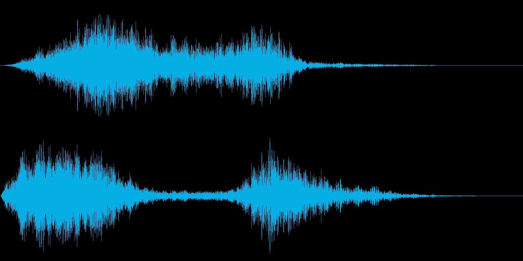ヒュウウ(風のような音)の再生済みの波形
