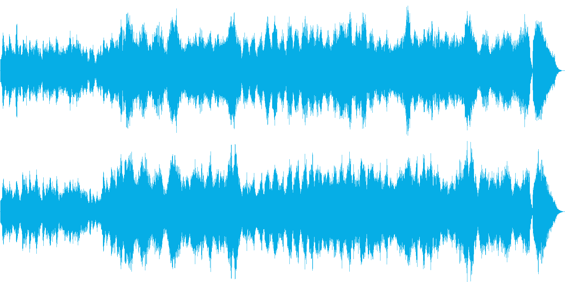 平和な感じのクラシカルな弦楽器の劇伴曲の再生済みの波形