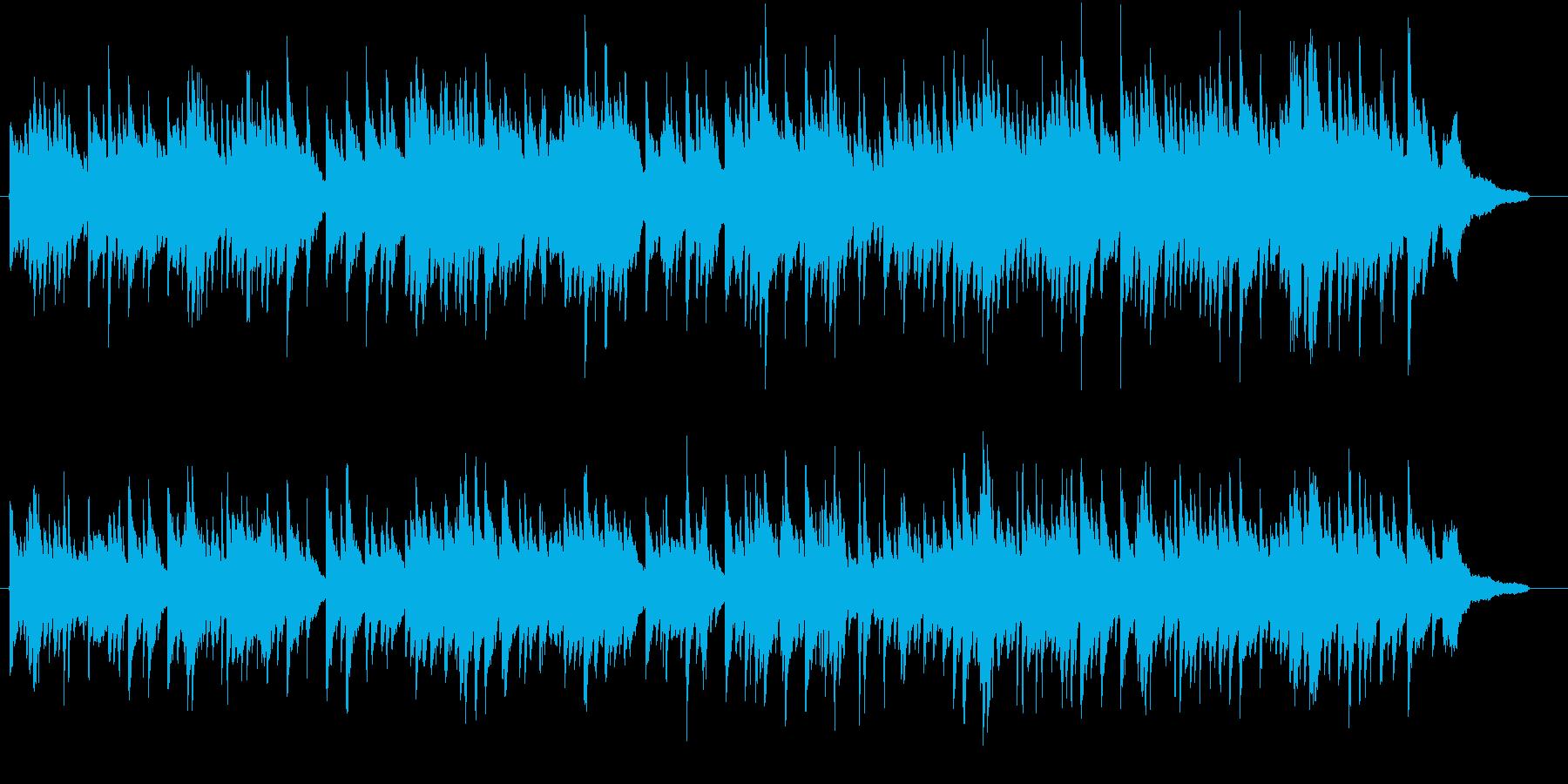 明るい雰囲気かつスローなピアノ曲の再生済みの波形