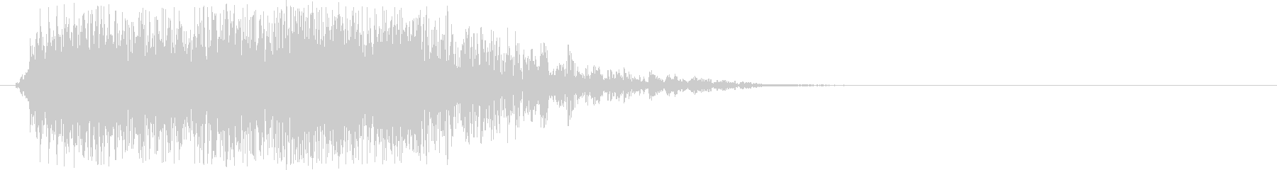 生音ブラス(金管楽器)による効果音の未再生の波形
