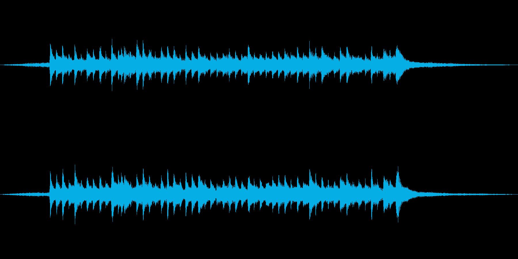和楽器を使った和風ジングルの再生済みの波形