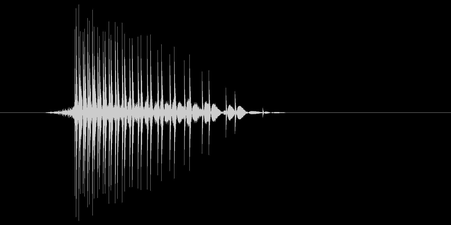 ゲーム(ファミコン風)ヒット音_044の未再生の波形