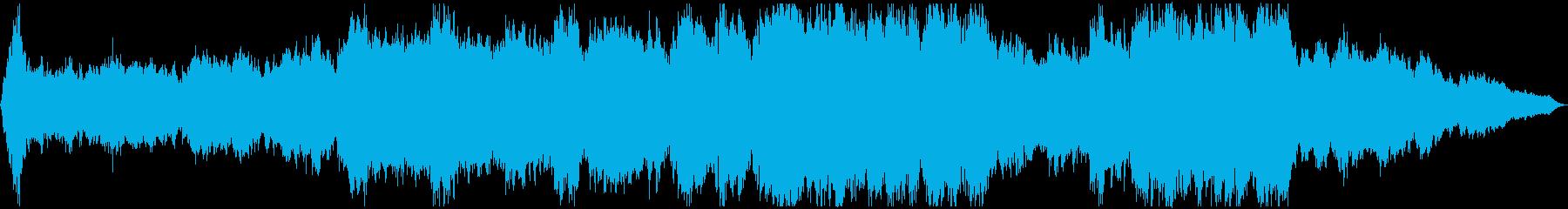 ラストを飾るオーケストラサウンドの再生済みの波形