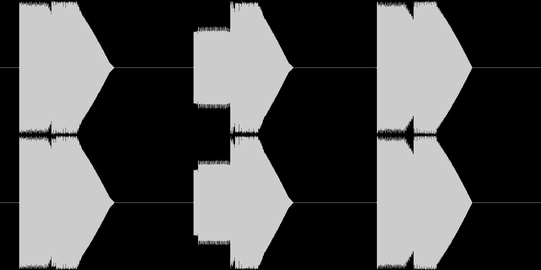 ピコン×3_下降型_エネルギー残少_遭遇の未再生の波形