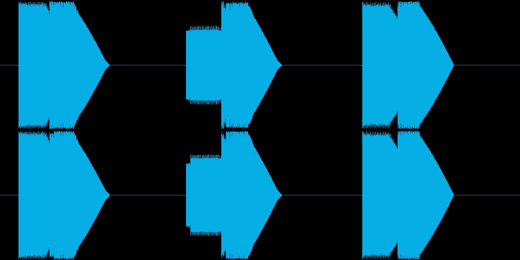 ピコン×3_下降型_エネルギー残少_遭遇の再生済みの波形