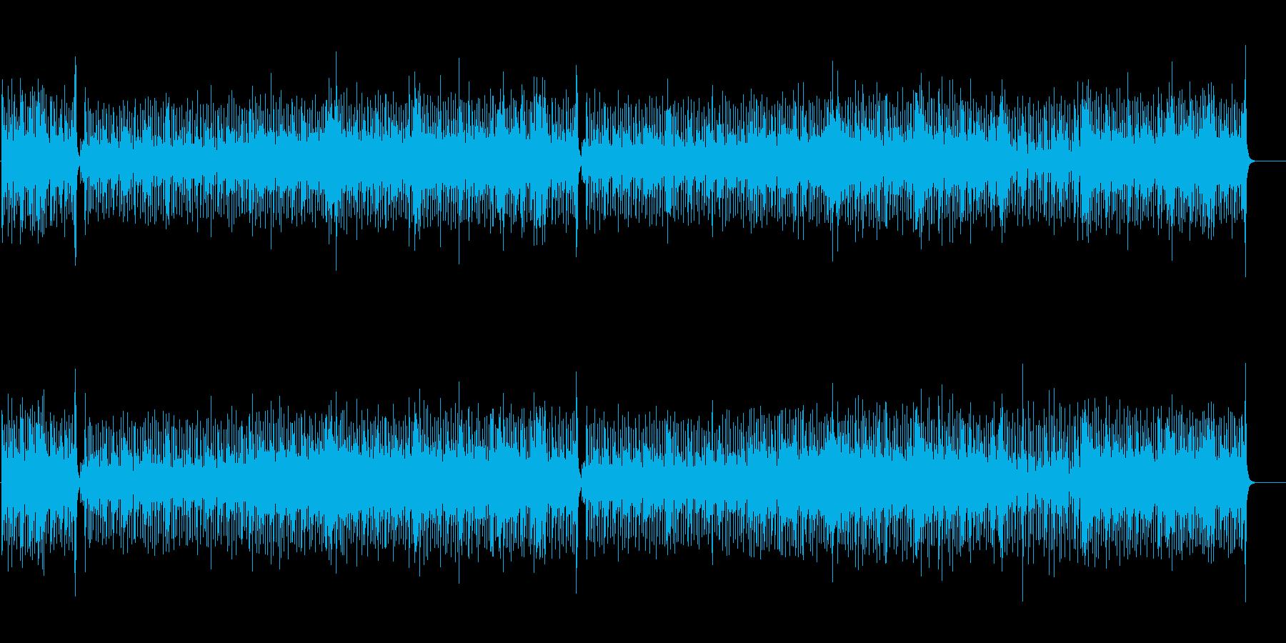 ポップで整合感のあるテーマ曲風の再生済みの波形