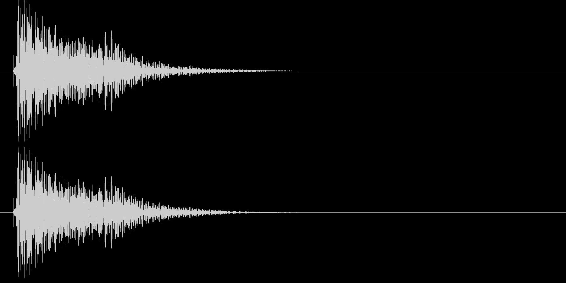 「ファオン」 メニュー音の未再生の波形