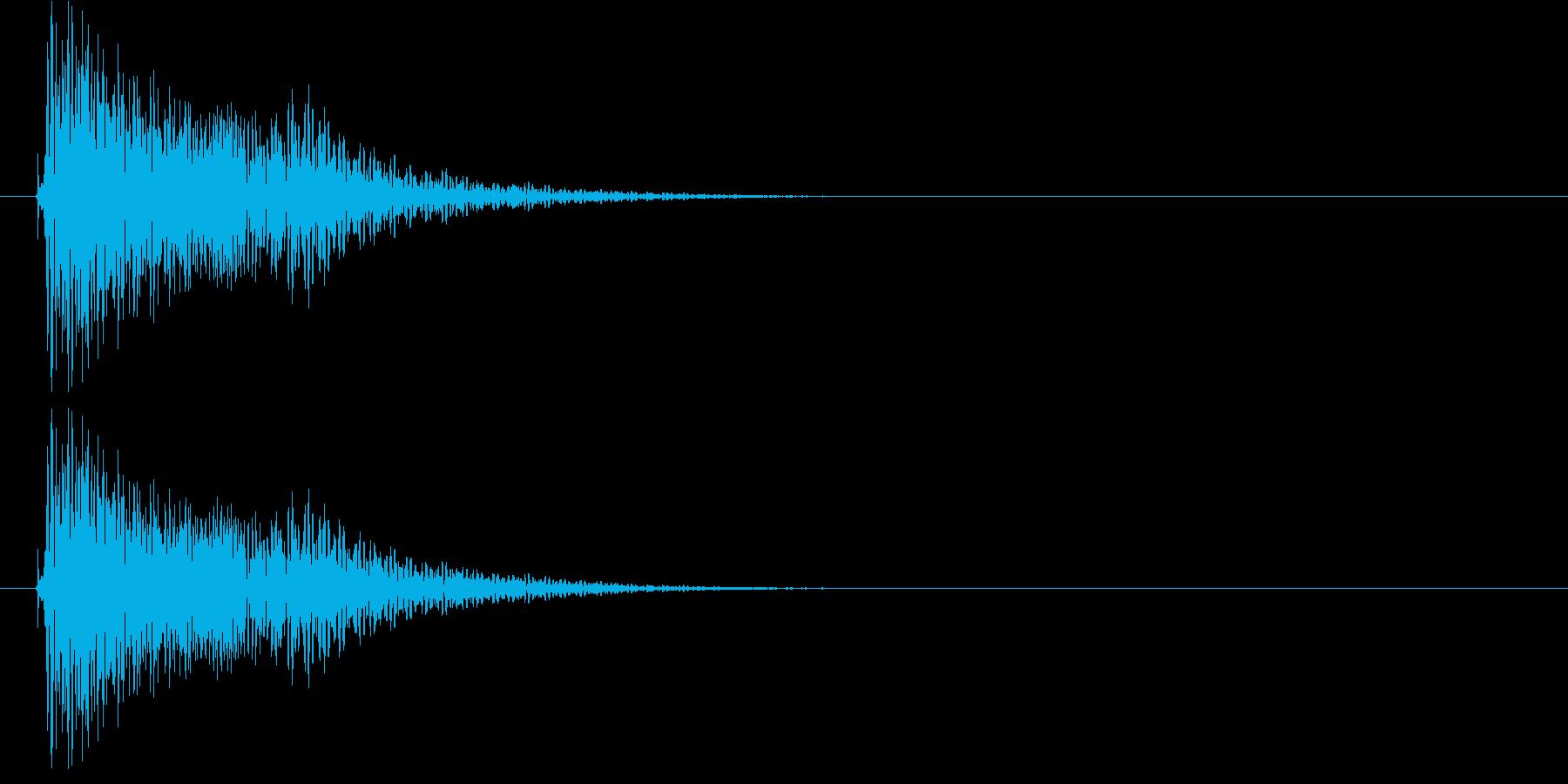 「ファオン」 メニュー音の再生済みの波形