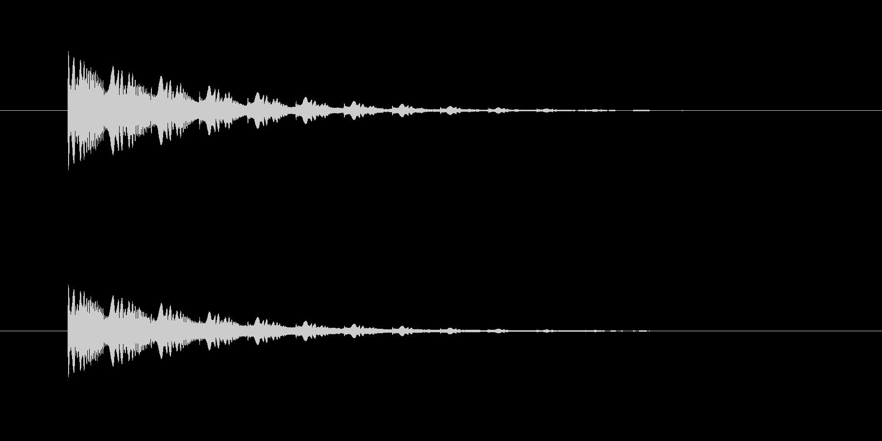ポワンポワンポワン(アナログシンセ)の未再生の波形