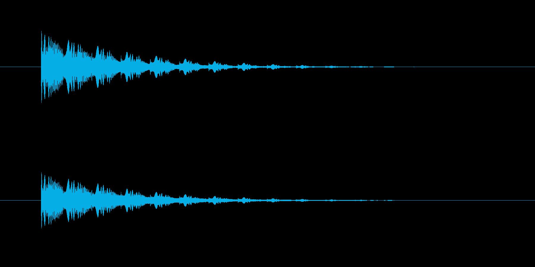 ポワンポワンポワン(アナログシンセ)の再生済みの波形