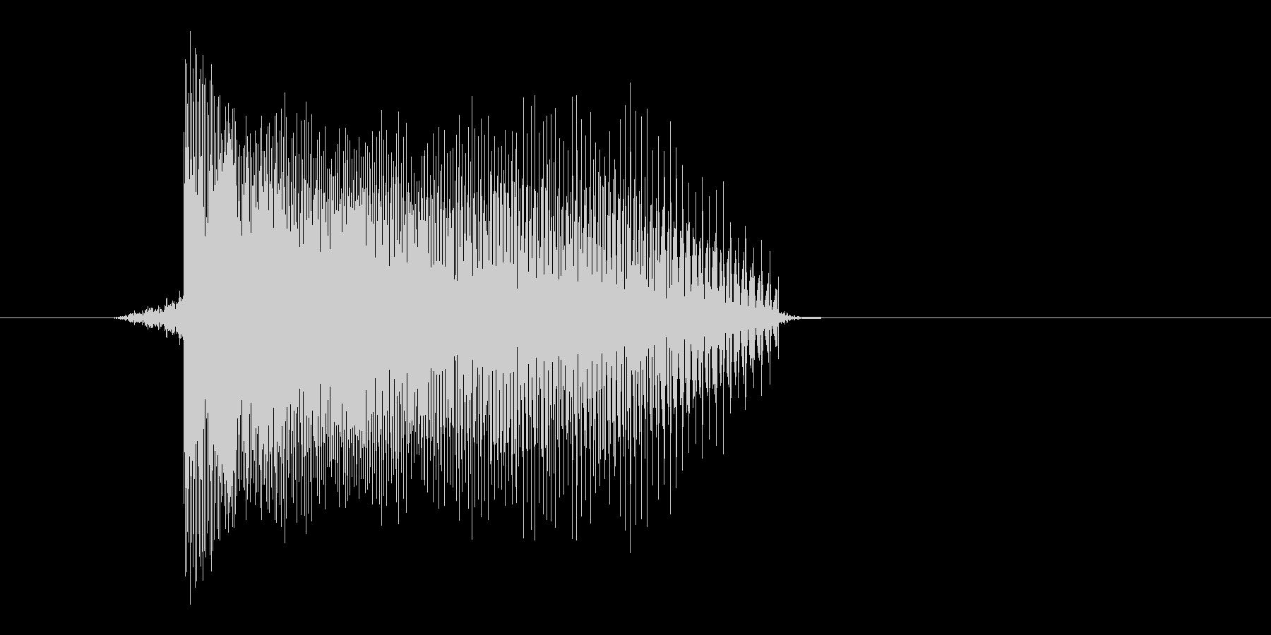 ゲーム(ファミコン風)レーザー音_034の未再生の波形