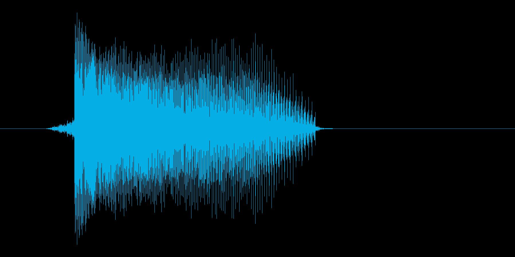 ゲーム(ファミコン風)レーザー音_034の再生済みの波形