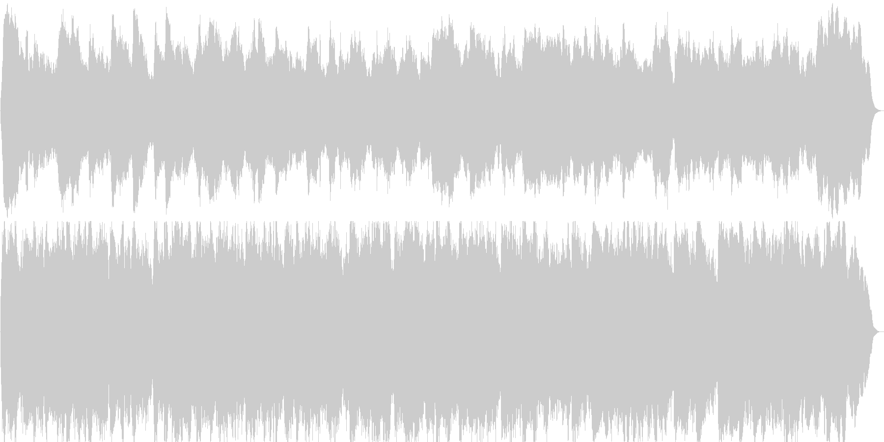 オルガン曲 3声曲 バロック調 約1分の未再生の波形