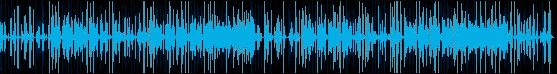 ほのぼの・軽快なBGMの再生済みの波形