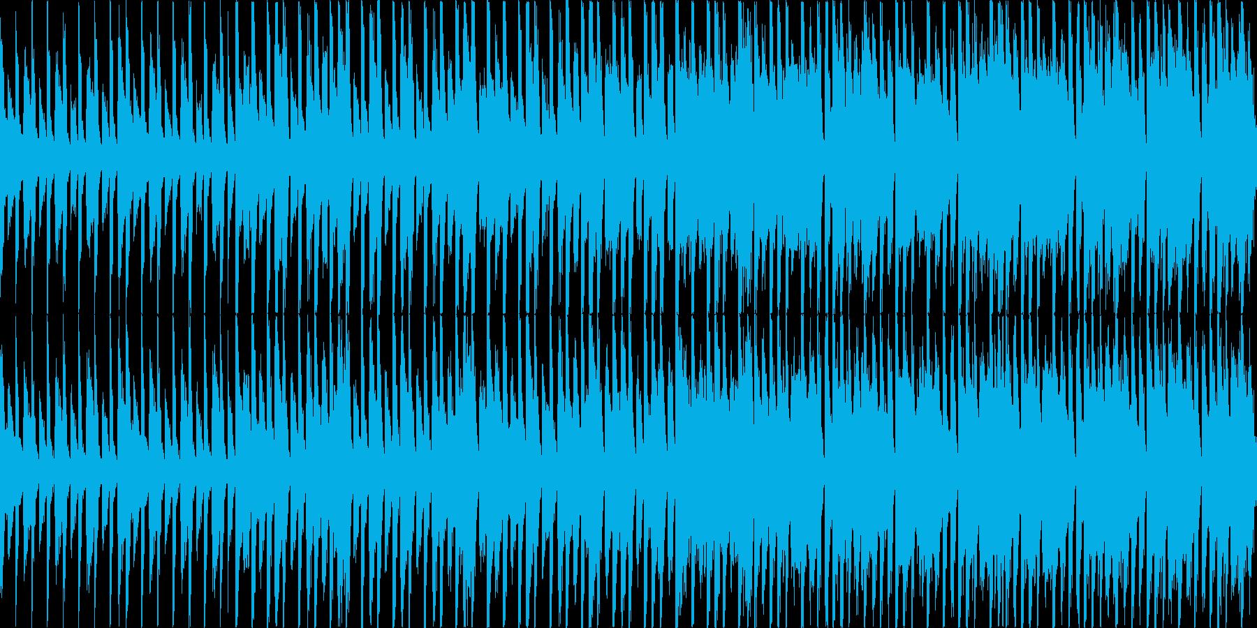 【ループ】ワクワク楽しい雰囲気の軽快なBの再生済みの波形