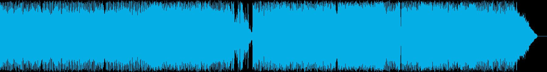 メジャーでテンポの速いloudサウンドの再生済みの波形