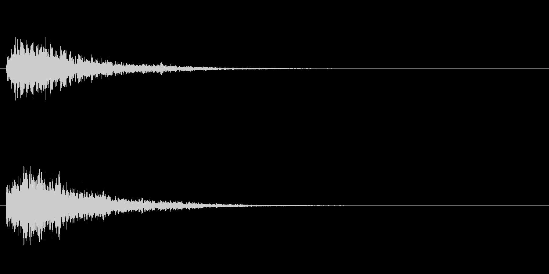 凍りつくイメージの音ですの未再生の波形