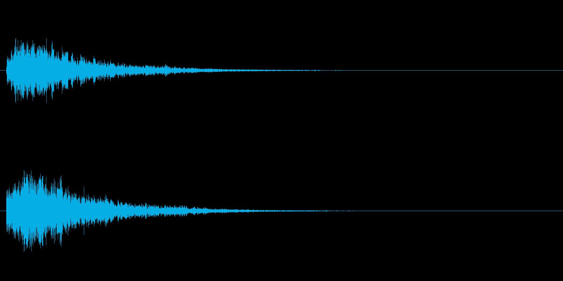 凍りつくイメージの音ですの再生済みの波形