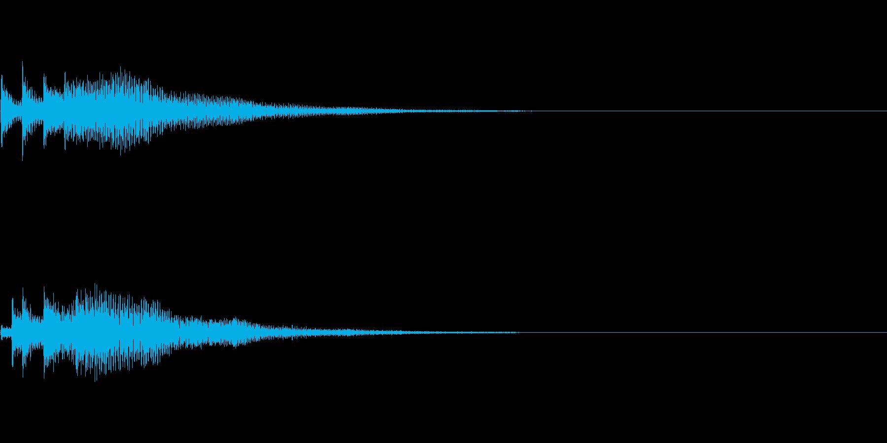 システム音15_シンセDPの再生済みの波形