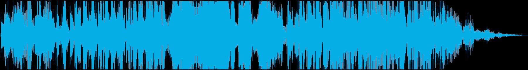 ゆったりながらシリアスな雰囲気のBGMの再生済みの波形
