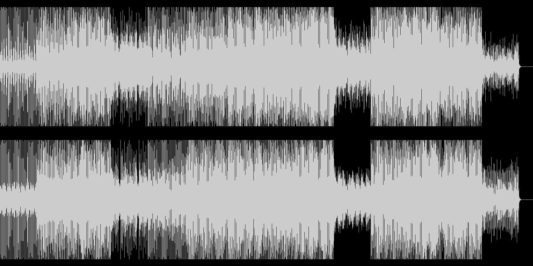 ハウス/ディスコ風ダンストラックの未再生の波形